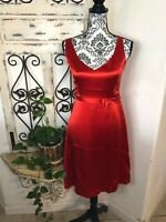 Banana Republic red silk fit & flare dress Size 4