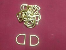 Leather Hardware - Lot 24 Solid Brass D Rings - Size 1""