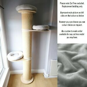 SILVER GREY Replacement Pet Bed for Natural Paradise Cat Tree Pillar Post XXL