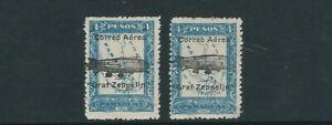 PARAGUAY 1931 GRAF ZEPPELIN overprints (Scott C54-55) F MLH minor tone spots on