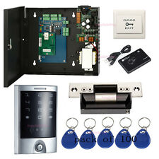 1 Door Access Control Systems Kit Waterproof Metal Touch Reader ANSI Strike Lock