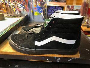Vans Sk8-Hi Pig Suede Black Size US 11.5 Men New Skateboard VN0A4BV618L