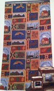 New Creative Bath Fabric shower curtain Hautman Brothers Cabin scenes 70 x 72