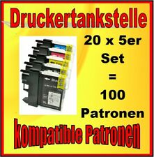 100x für Brother LC-985 DCP-J125 DCP-J140 W DCP-J315 W DCP-J515 W MFC-J220 TOP