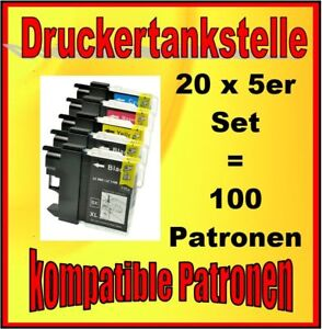 100x Cartouches Pour Brother LC-980 LC-1100 MFC-6890 Cw 790 Séries 795 990 J615W