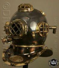 "Antique Vintage Helmet Scuba SCA Marine Diving Divers Helmet US Navy Mark V 18"""