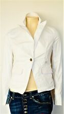 Calvin Klein Damen Blazer, Weiß Damen Sakko Jacke aus Baumwollemischung Große; M