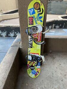 snowboard with bindings
