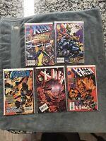 X-men Deluxe 44,47,51,52 & Ka-zar 12 All Signed By Andy Kubert Lot Marvel Comics