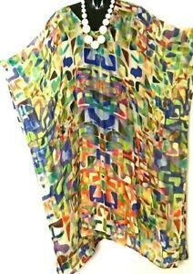 100% Silk Kaftans / Mid-long /Generous Size /Very Cool & Light /Last Few/ RR$169