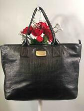 MICHAEL Michael Kors Jet Set Black Croc Embossed Leather Extra Large Tote Bag