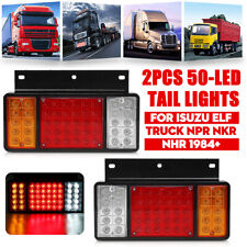 2pcs Rear Left +Right LED Tail Light Lamps For ISUZU ELF Truck NPR NKR NHR 1984+