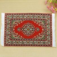 10X17CM Red Rot Dollhouse Miniature 1:12 Scale Floor Carpet Rug Q7G1
