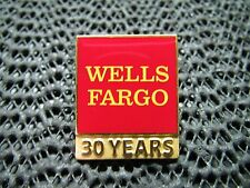 Brand New Wells Fargo 30 Years Pin! Gold Toned! Rare! 2013! Look!