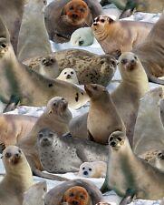 Fat Quarter North American Wildlife phoques à coudre coton quilting tissu