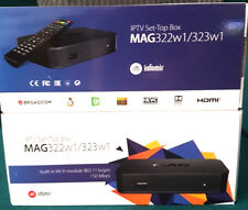 *MAG 322w1 IPTV Box with built in wi-fi and 12 month Premium IPTV subscription