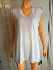 Alexander Wang Light Green Sleeveless Oversized T-shirt Top Size Small Uk8 NWT