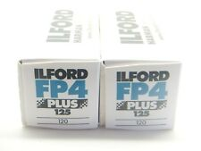 2 x ILFORD FP4 PLUS 125 120 ROLL CHEAP B&W FILM By 1st CLASS ROYAL MAIL