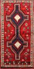 Vintage Geometric Abadeh Tribal Hand-knotted Area Rug Oriental Wool Carpet 4'x7'