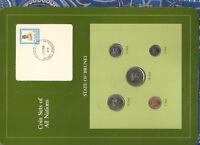 Coin Sets of All Nations Brunei UNC 20, 10 Sen 1987 50, 5, 1 Sen 1988 7JUN86