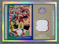 Steve Young HOF 49ers 2000 Topps Archives Reserve Game Used Jersey Relic Card