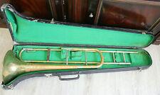 Alte Posaune im Koffer (deutsches Fabrikat)