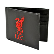 Liverpool Crest Wallet Black Embroidered Gift Official Licensed Football Club