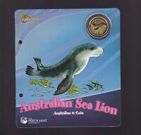 2008 Uncirculated UNC $1 Coin Australia Sea Lion
