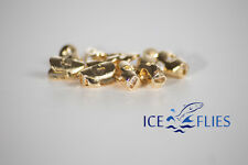 ICE FLIES. Skull head for fly tying. 10 pcs. 5 x 7 x 10 mm. Gold