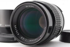 Nikon Nikkor Ai-s 105mm f2.5 MF Lens with Hood + Case 【Near Mint】from Japan 643
