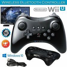 Wireless Schwarz Joystick Gamepad Pro Controller für Nintendo Wii U mit Kabel BT