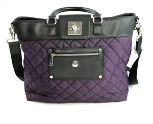 Knomo Ravello Quilted Purple Purse