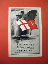 Pubblicita GRUPPO FINMARE Linee Navigazione ITALIA Genova nave mare   1951