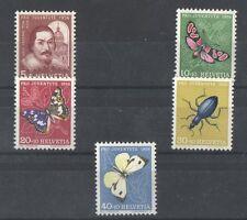 FRANCOBOLLI NUOVI MNH **  SVIZZERA CAT. UNIFICATO 581/5 PRO JUVENTUTE 1956