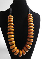 AFRICAN BERBER JEWELRY RESIN BEADS ETHNIC NECKLACE FROM SOUTH OF MOROCCO