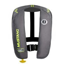 Mustang Survival MIT 100 Auto Activation Inflatable Life Vest - Grey/Yellow Gree