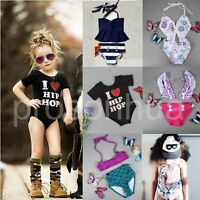 Kids Baby Girls Bikini Set Tankini Swimwear Swimsuit Bathing Suit Beachwear 1-7Y