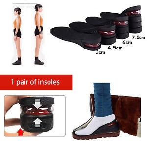 1Pair Shoe Increase Insole Insert Taller Lift Height Up Heel Taller Adjustable