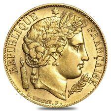 20 Francs French Early Head Ceres Gold Coin Avg Circ AGW .1867 (Random