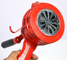 New listing Portable Handheld Loud Hand Crank Operated Air Raid Alarm Siren Metal Shell Red