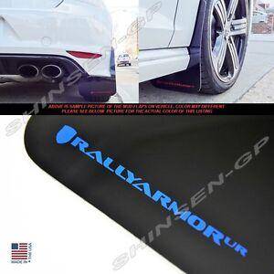 "Rally Armor UR ""Black Mud Flaps with Blue Logo"" for 2015-2017 VW MK7 Golf R"