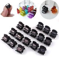 12Pcs/sets Girls Womens Mini Clamp Small Black Plastic Hair Clip Hair Claw Lot