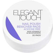 Elegant Touch 20 x Nail Polish Remover Pads Acetone Free Fruity Fragrance
