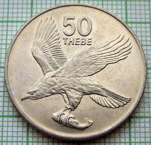 BOTSWANA 1984 50 THEBE, AFRICAN FISH EAGLE, UNC