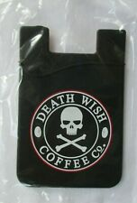 Death Wish Coffee Company Silicone Smart Wallet Cellphone Card Holder - New