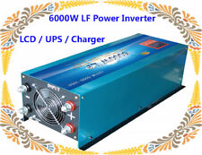 6000W LF Split Phase PSW 24V DC/110V,220V AC 60Hz Power Inverter LCD/UPS/Charger