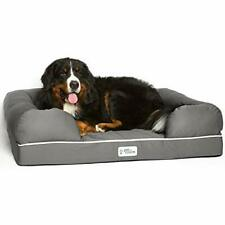 "PetFusion Ultimate Solid 4"" Memory Foam Dog Bed for X Large Dogs (44x34x10"")"