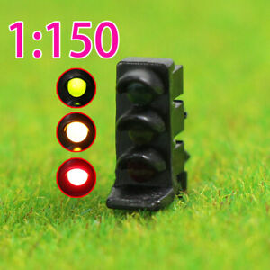 5PCS N scale LEDs Rectangle Dwarf Signals Green/Yellow/Red for Railway 3 Aspects