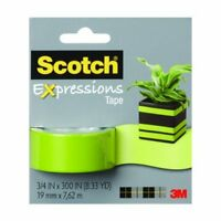 "Scotch Expressions Lime Green Tape (3/4"" x 300"")"
