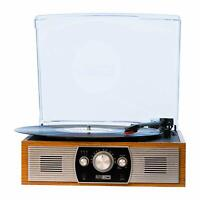 Altec Lansing Belt-Driven 2-Speed Stereo Turntable with Bluetooth & FM Radio